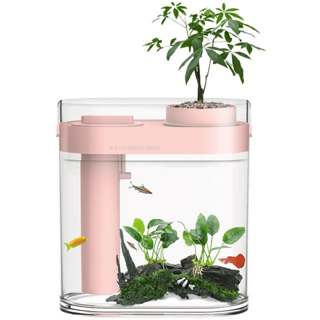 Аква-ферма Xiaomi Descriptive Geometry Amphibious Fish Tank (HF-JHYGQC001) Розовый
