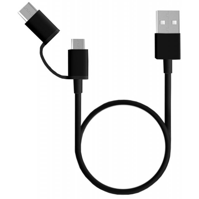 Кабель 2in1 USB Type-C/Micro Xiaomi ZMI 100см Black (AL501)