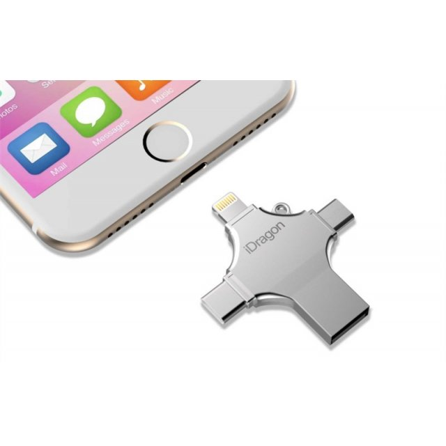 Флешка 4 в 1 iDragon U010 32gb (lightning, type-c, micro USB, USB)
